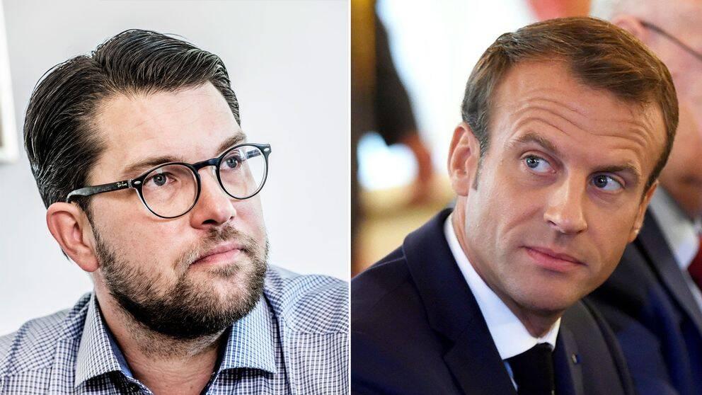 Emmanuel Macron och Jimmi Åkesson.