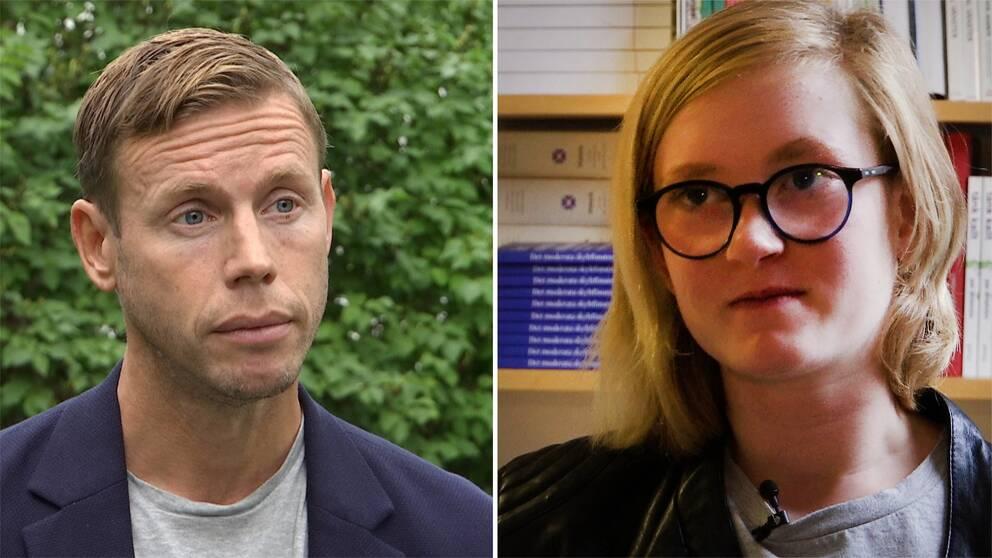 Anders Boman och Sofia Lööf.