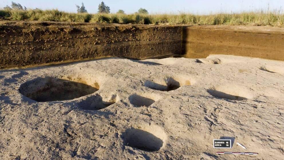 Bild på utgrävningar vid Nildeltat.