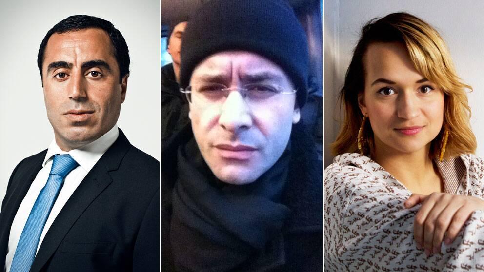 Özz Nujen, Aron Flam och Bianca Kronlöf har alla skrivit på #minskola.