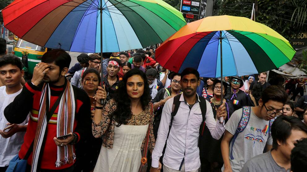Prideparad i Kolkata, Indien, i vintras.