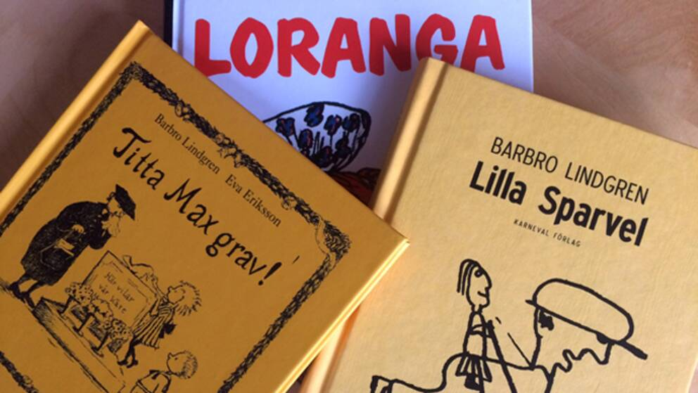 Tre av Barbro Lindgrens böcker.