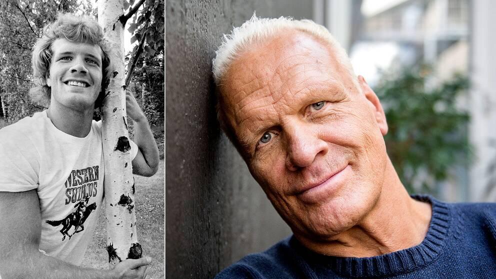 Frank Andersson 1983 och 2018. Han blev 62 år.