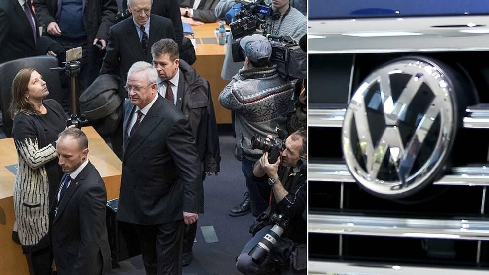 VW:s förre VD Martin Winterkorn kommer in i förbundsdagen 2017.