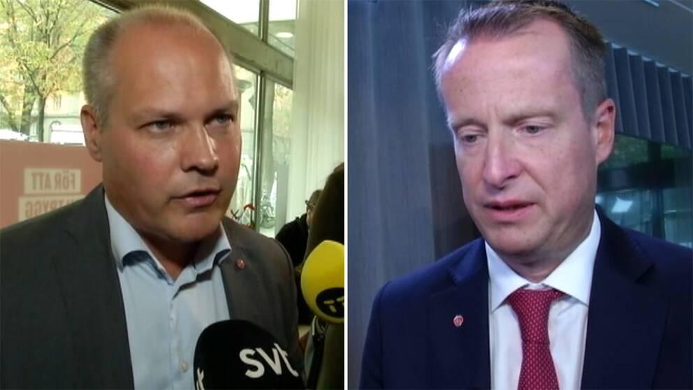 Morgan Johansson (S) och Anders Ygeman (S).