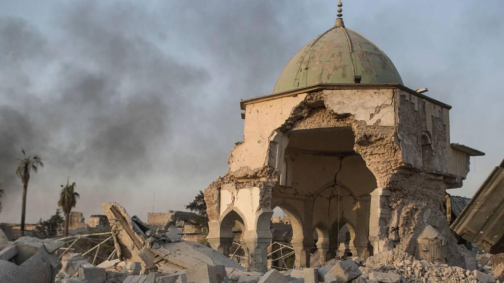 Den sönderbombade al-Nurimoskén