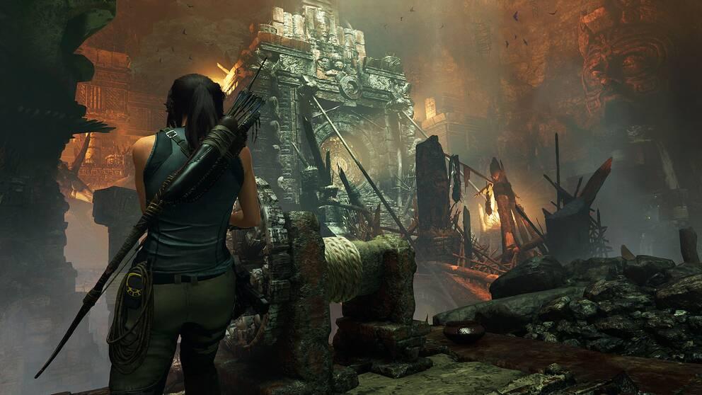 Spelaren kan lägga otaliga timmar i Shadow of the Tomb Raider på att utforska förfallna ruiner och tempel.