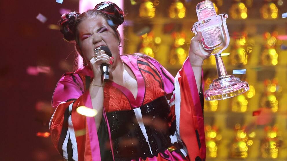 Israeliska Netta Barzilai vann eurovisionsfestivalen 2018