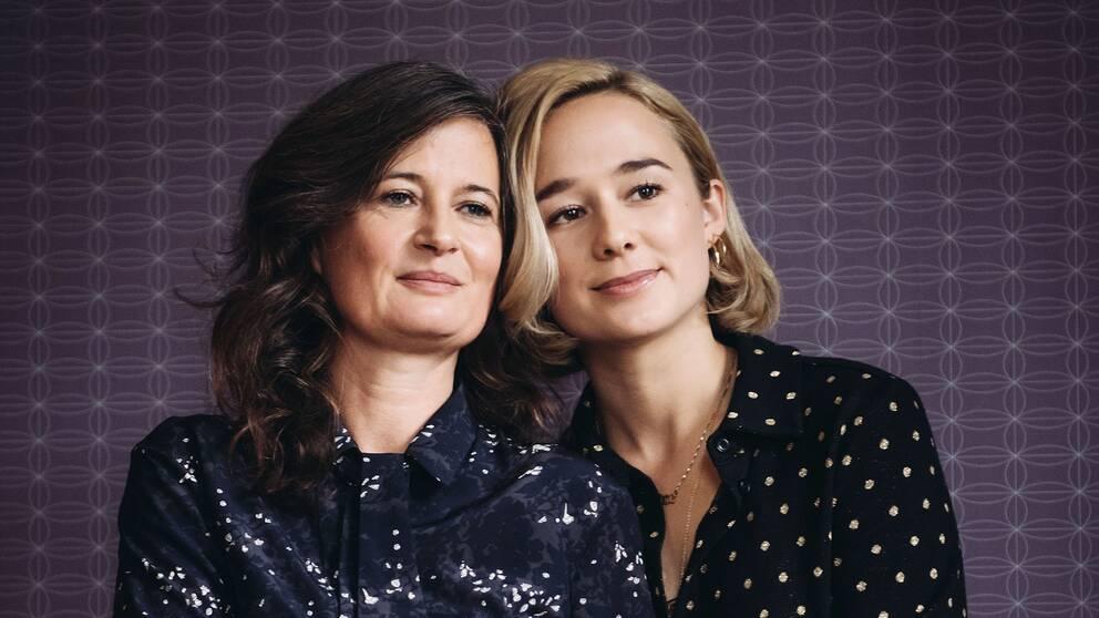 Regissören Pernille Fischer Christensen och skådespelaren Alba August, aktuella med filmen Unga Astrid.