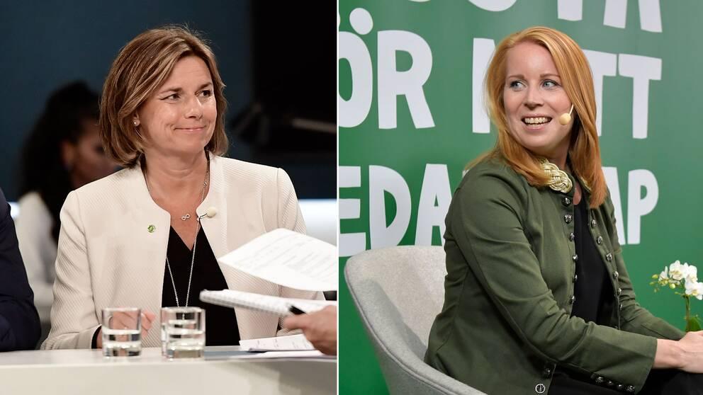 Isabella Lövin (MP) och Annie Lööf (C)