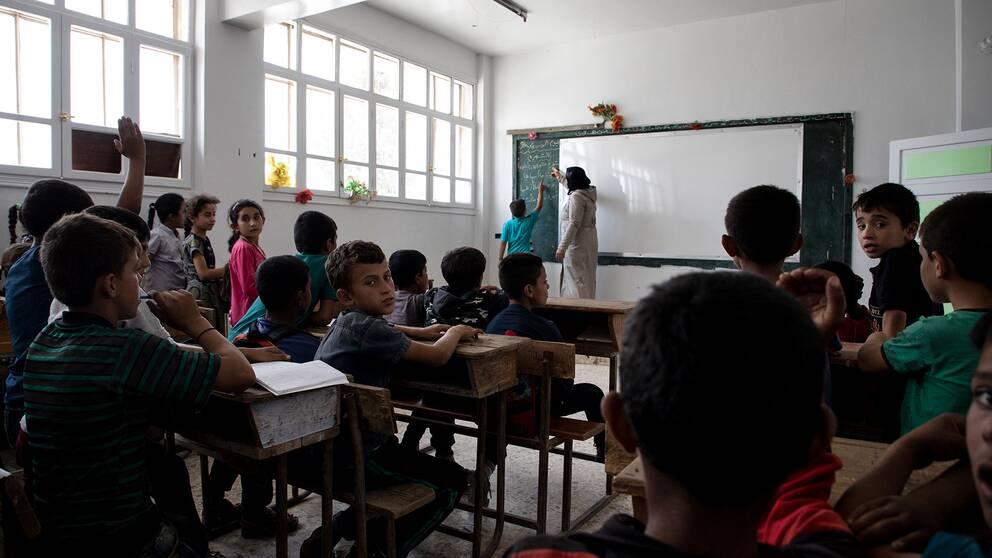 Banenen undervisas i matematik