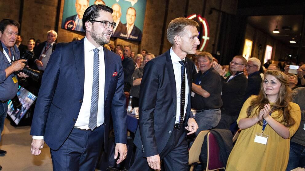 Sverigedemokraternas ledare Jimmie Åkesson och Dansk Folkepartis ledare Kristian Thulesen Dahl