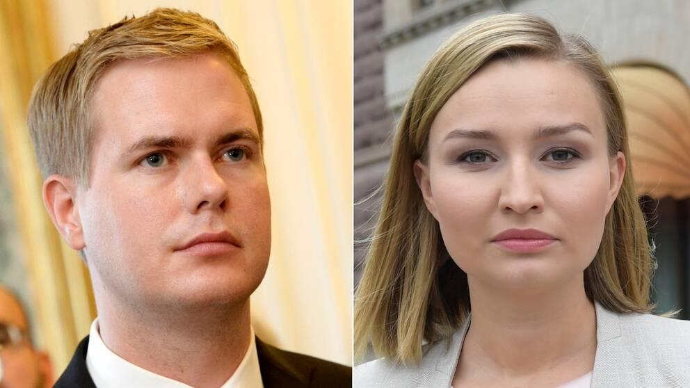 Gustav Fridolin och Ebba Busch Thor