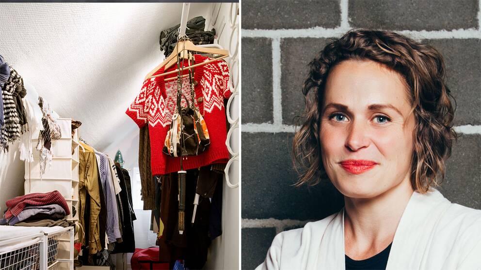 En garderob samt Maria Lagerman.