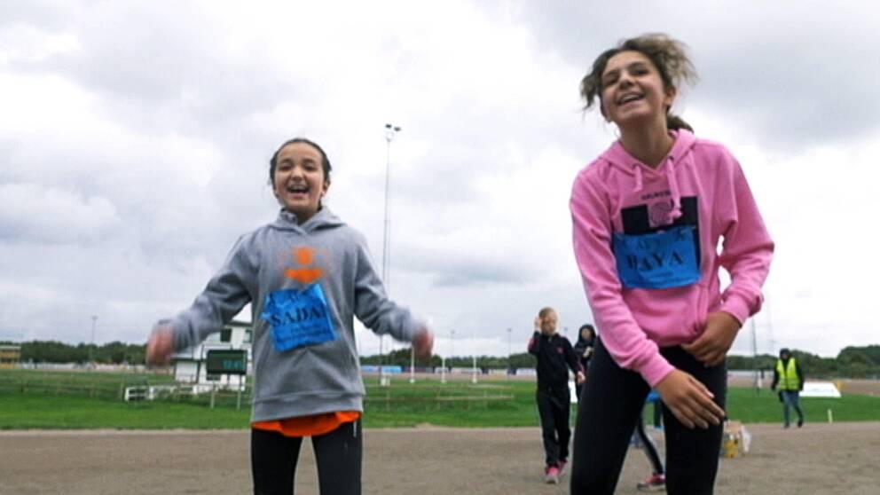 Se när Lilla Sportspegeln besökte skoljoggen i Halmstad.