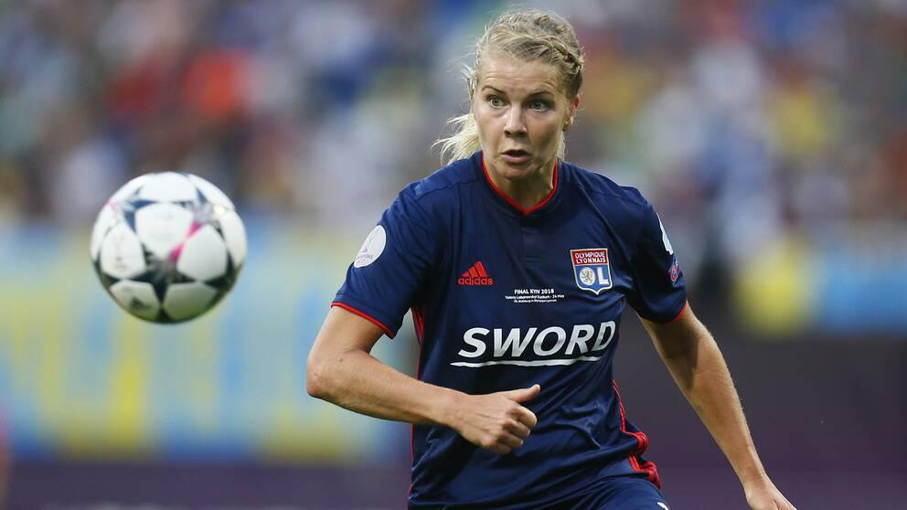 Norska fotbollsstjärnan Ada Hegerberg, här i klubblaget Lyon.