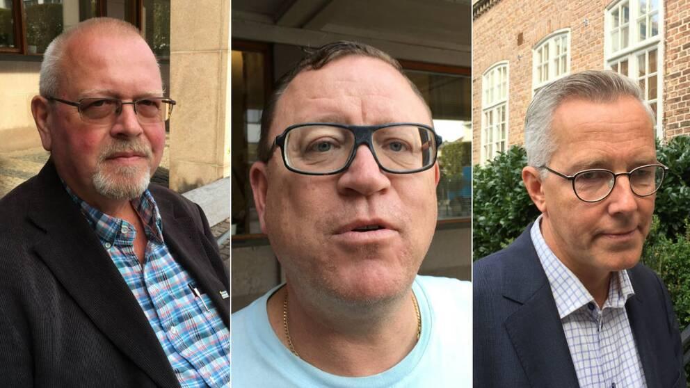 Helmuth Petersen (SD), Patrik Holmberg (C) och Torbjörn Karlsson (S).