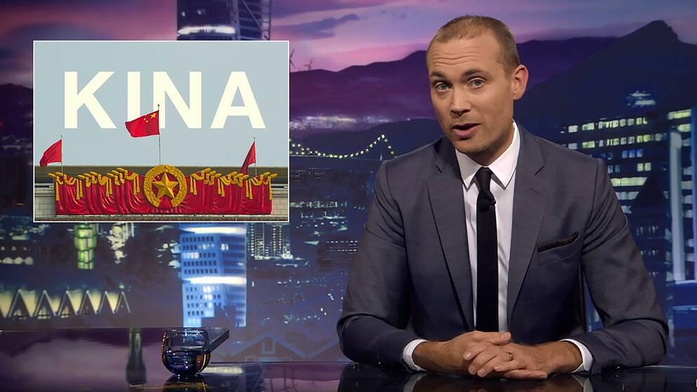 Svenska nyheters programledare Jesper Rönndahl