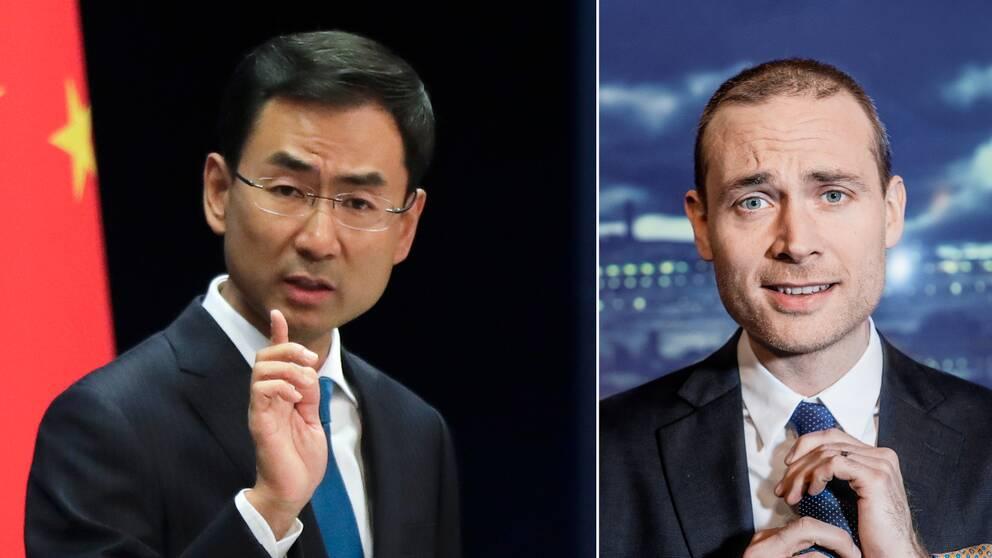 Geng Shuang och Jesper Rönndahl