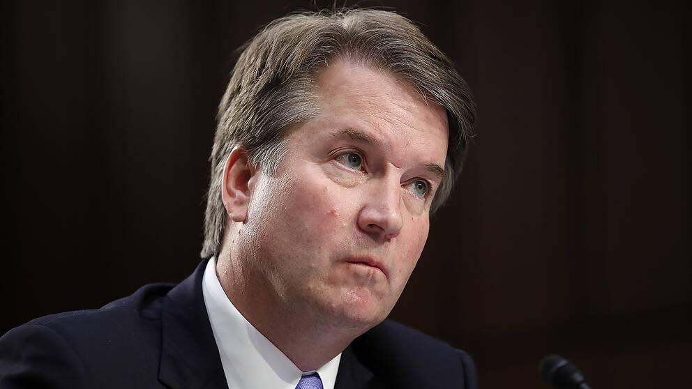 Brett Kavanaugh vittnar inför senatens justitieutskott 6 september 2018.