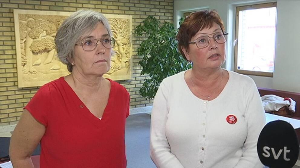 Vänsterpartisten Jeanette Wäppling och socialdemokraten Birgitta Larsson