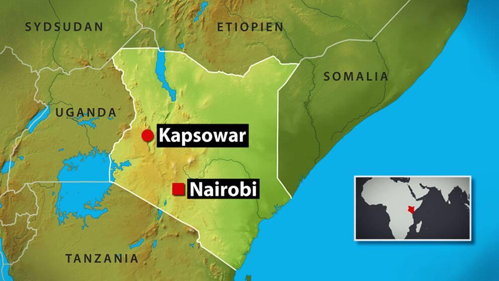 En svensk medborgare har gripits av den kenyanska polisen i staden Kapsowar i provinsen Rift Valley.
