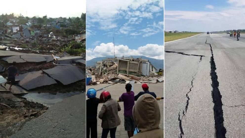 Drygt 830 döda efter skalv och tsunami