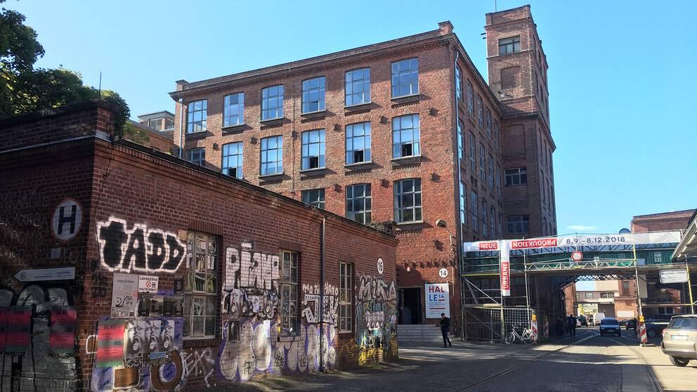 I ett övergivet bomullsspinneri i Leipzig har konstnärer och start-ups flyttat in.