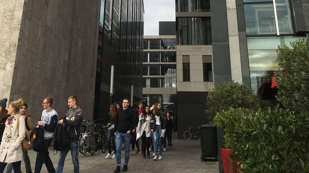 Det nya universitetet i Leipzig har placerats mitt i staden och har dragit till sig studenter från hela Tyskland.