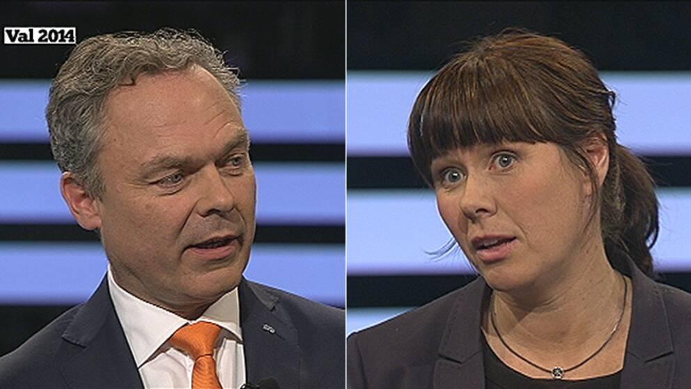 Jan Björklund och Åsa Romson i Agenda