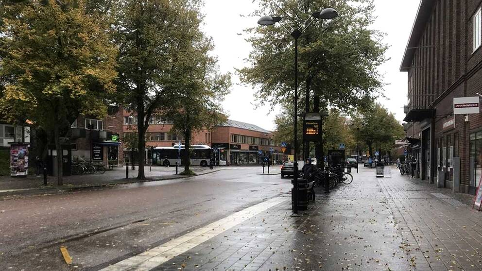 Storbråket i centrala Halmstad