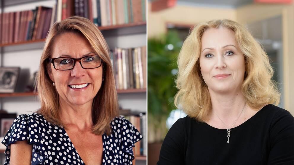 Kristina Ahlinder, direktör för svenska förläggareföreningen och Jeanette Gustafsdotter, VD för Tidningsutgivarna.