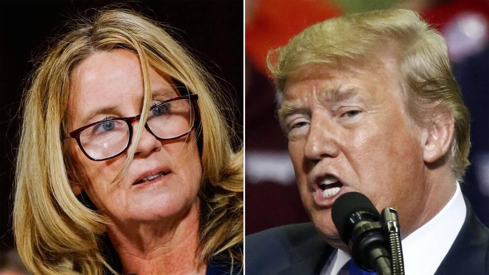 Christine Blasey Ford och Donald Trump