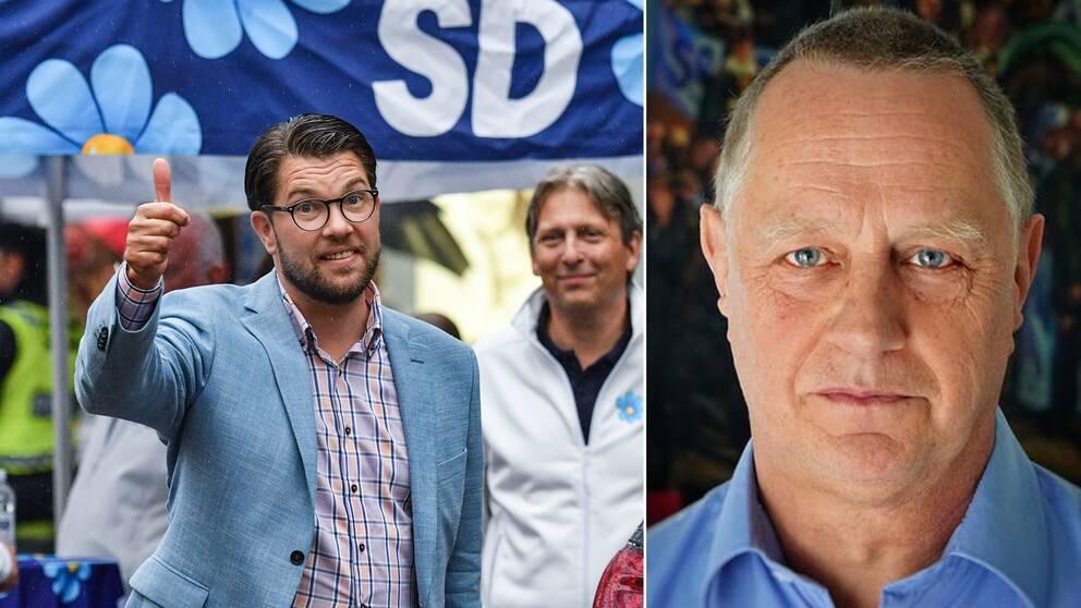 """""""Detta är ju historiskt och jag är är både rörd och euforisk"""", säger Stefan Borg (t.h) som blir SD:s första kommunstyrelseordförande någonsin."""