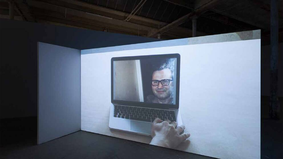 Jakub Simciks videokonst har ställts ut i Leipzigs gamla bomullsspinneri som nu innehåller mängder av gallerier och startup-företag.