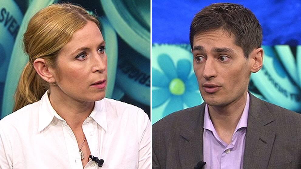 Karin Pettersson, politisk chefredaktör på Aftonbladet, och Peter Wolodarski, chefredaktör på Dagens Nyheter, möttes i Aktuellt.
