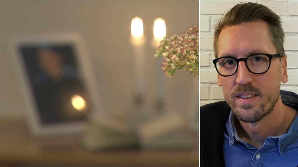 Minnesbild och två ljud och porträtt på teologilärare Jakob Svensson