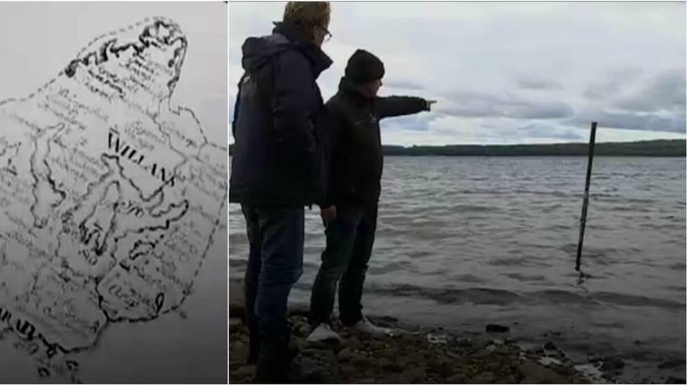 Ett undervattensskär i Ivösjön har gett nytt liv till myten om Brattingsborg.