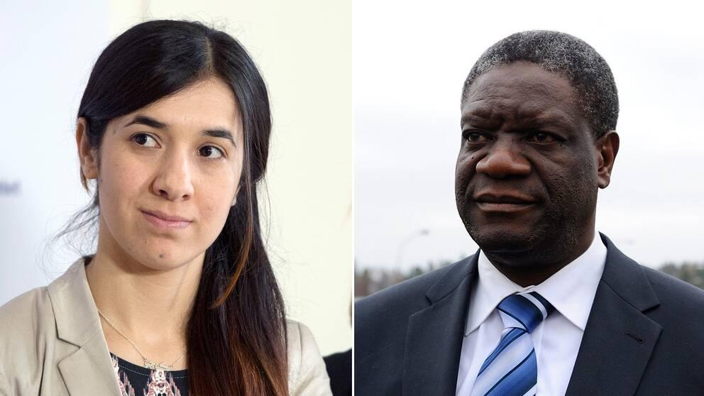 Läkaren Denis Mukwege och yazidiern Nadia Murad får Nobels fredspris för sin kamp mot sexuellt våld mot kvinnor.