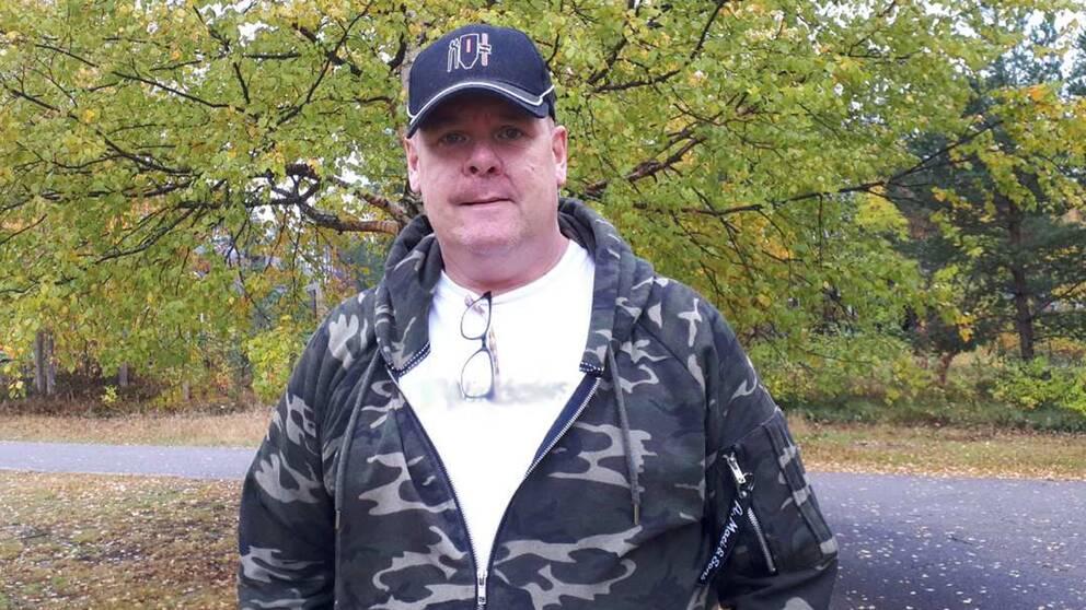 Conny Persson från Sveg har gjort sitt eget snus i 25 år.
