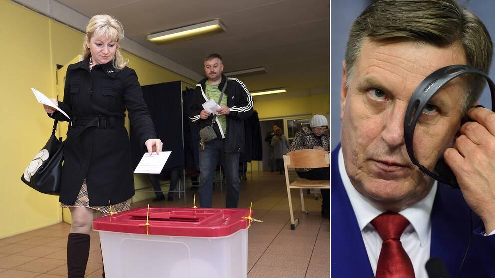 Lettland manga rostade i valet