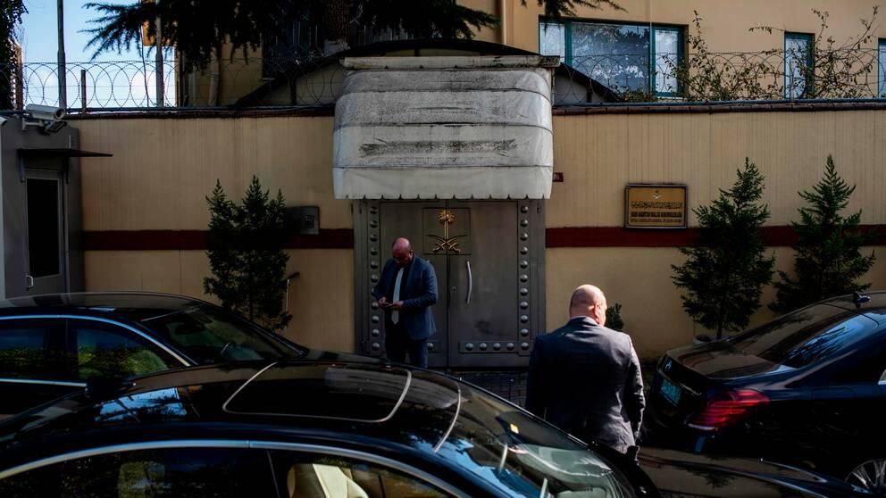 Saudiarabiens konsulat i Istanbul där journalisten misstänks ha mördats.