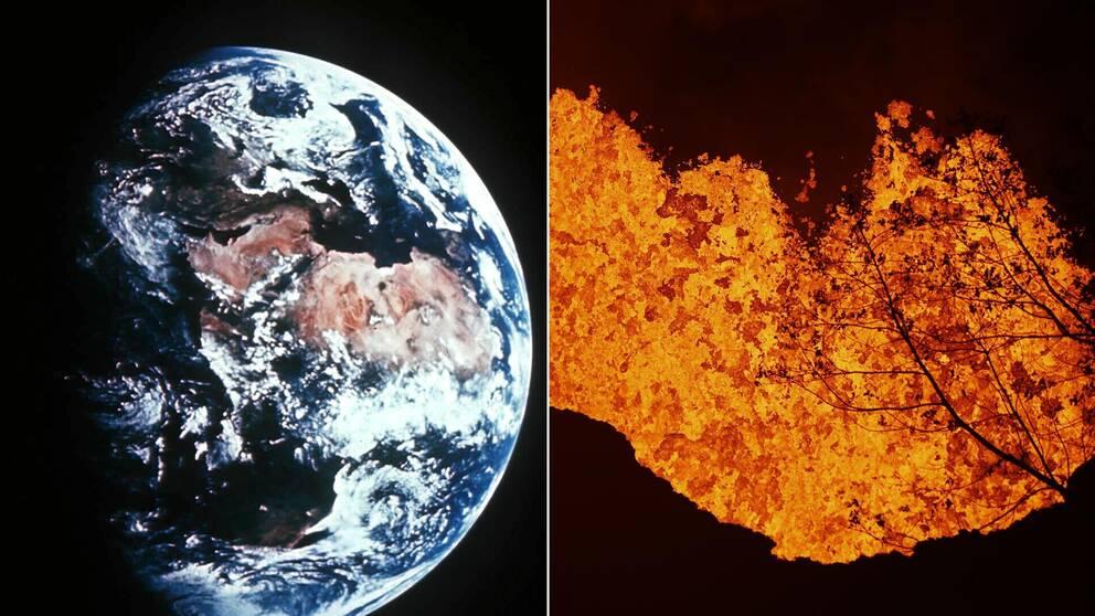 Jorden och lava