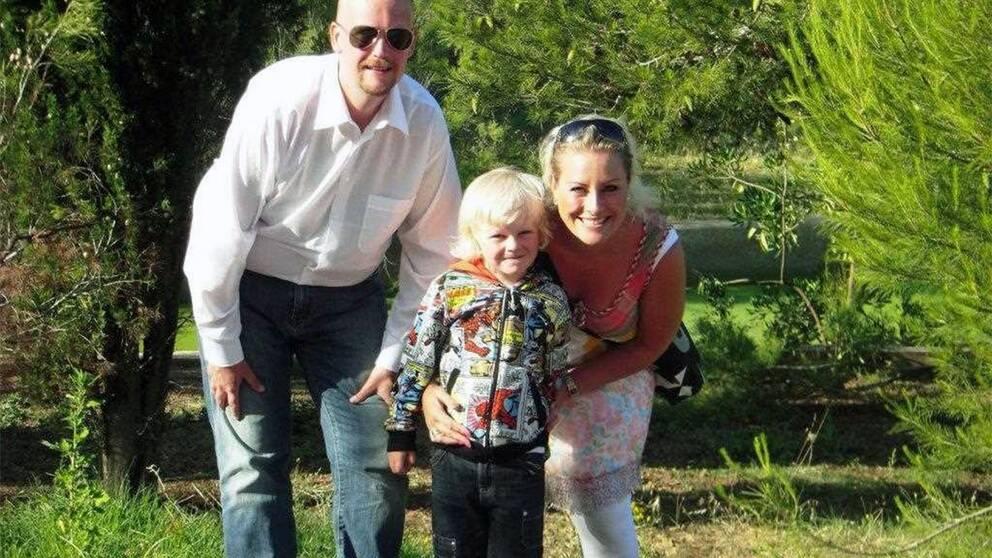 Marcus, Lotta och sonen Charlie, som också medverkat på konserter och skivinspelningar tillsammans med familjen.