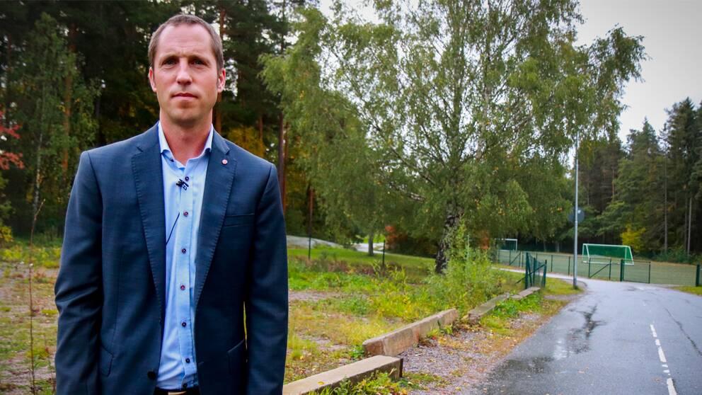 Erik Pelling i Gottsunda, platsen där en ny skola ska byggas.