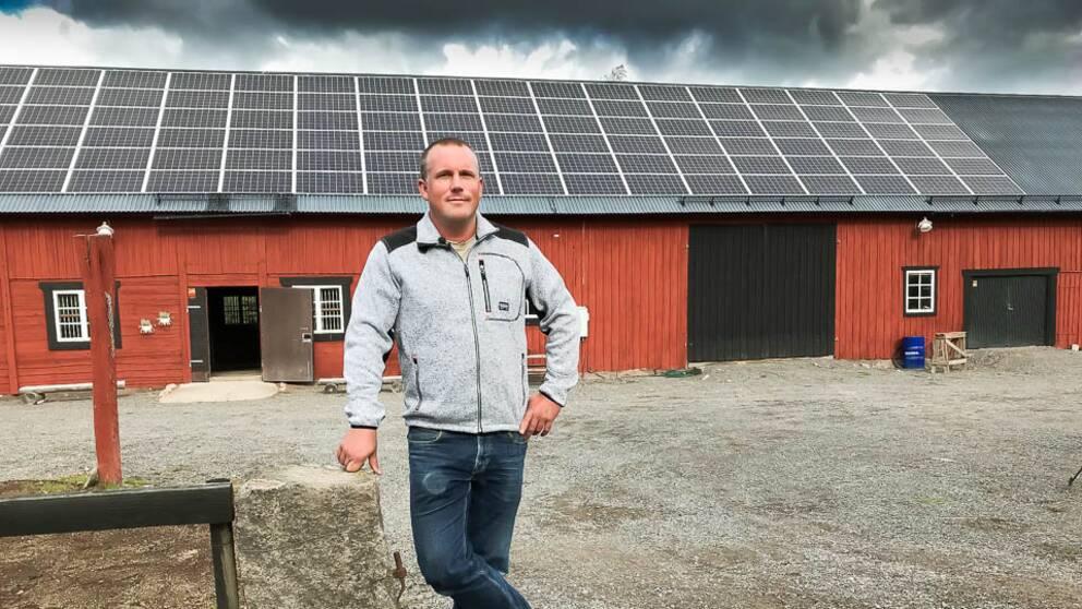 Fredrik Sandgren har storsatsat på solpaneler.