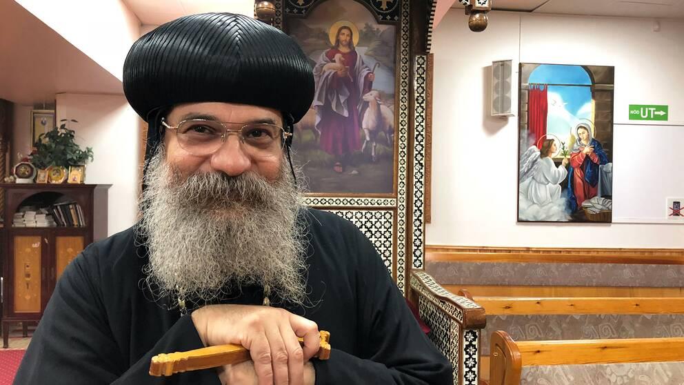 biskopen Anba Abakir i Sankt Minakyrkan