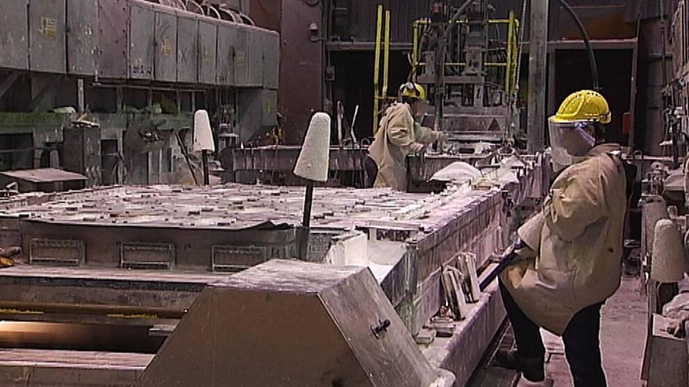 Kubals aluminiumsmältverk i Sundsvall.