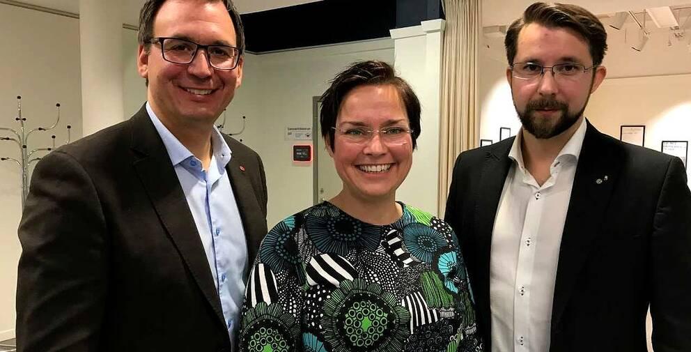 Den politiska ledartrojkan i Sundsvalls kommun: S, C och V.