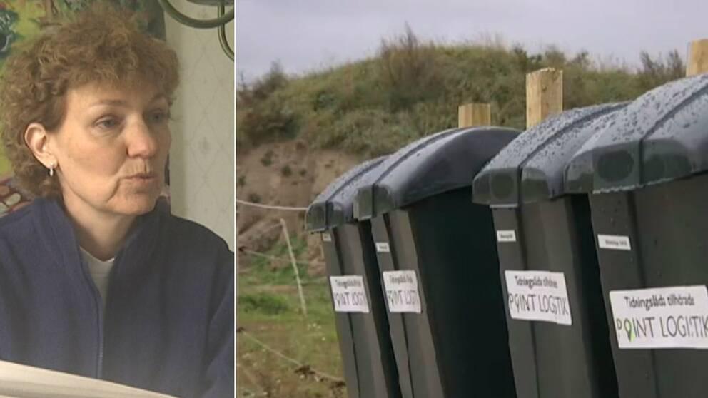 Nya postlådor gör att Kristina Persson i Slimminge måste köra flera kilometer för att hämta sina morgontidningar.
